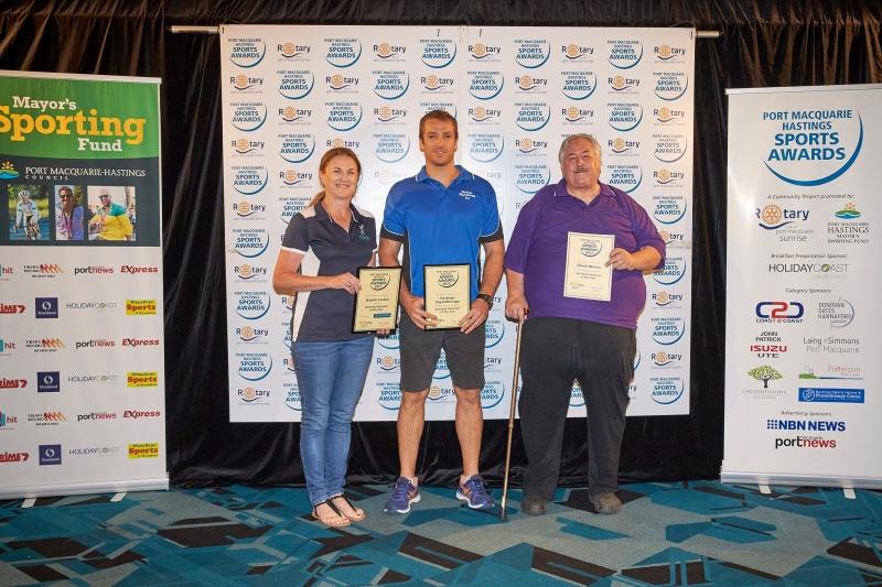 Sporting Volunteteer of the Year - Natalie Jordan (Winner), Chuck Murray (Runner Up). Presented by Guy Terkelsen, Hastings Physiotherapy.