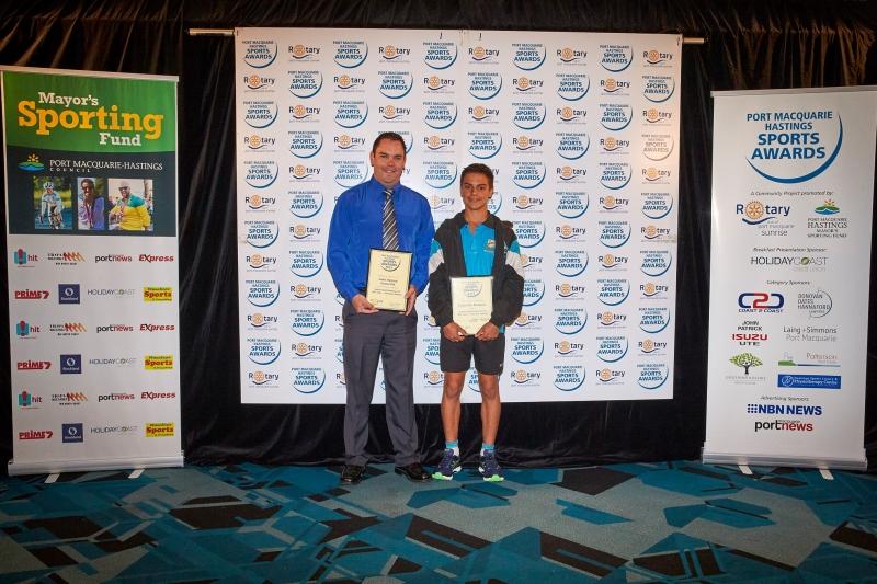 Junior Sports Person of the Year - Dylan De Domizio. Presented by Steven Jackson, John Patrick Izuzu Ute