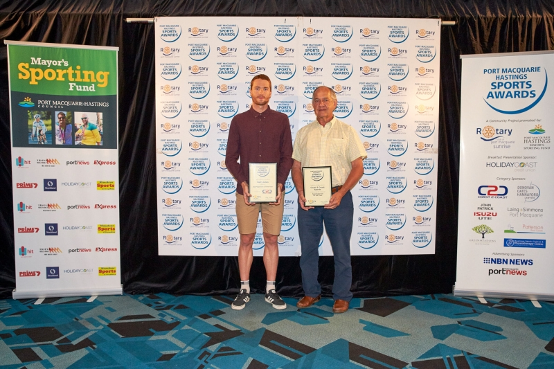 Sportsperson of the Year - Harry Jones. Presented by John Davidson Coast to Coast Sports